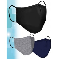 Clinic Gear Washable Solid Colour Mask Adults - Black