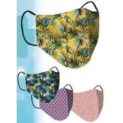 Ladies Printed Re-usable - Protective Fashion Face Masks