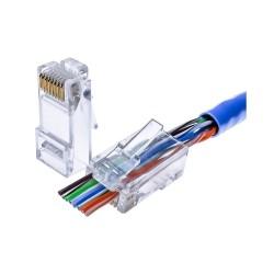 Cat5e/6 Pass-Through Modular Plug